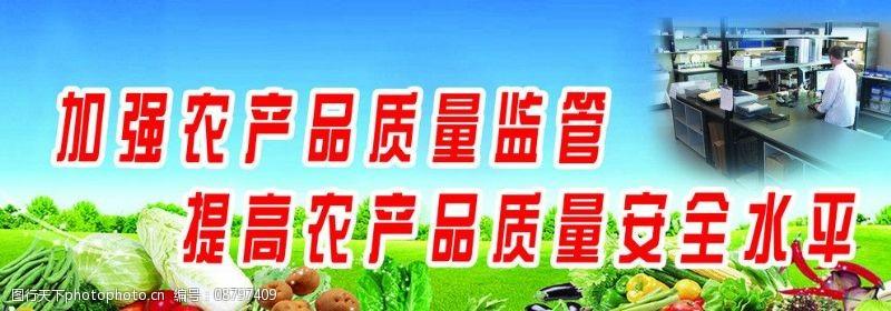 蓝色蔬菜加强农产品质量监督图片
