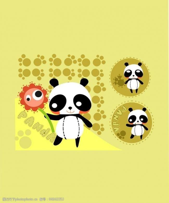 绘画卡通熊猫卡通熊猫图片
