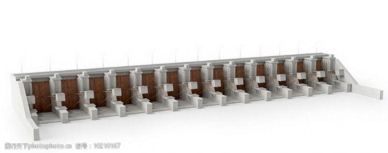 环保器材水坝水力发电站图片