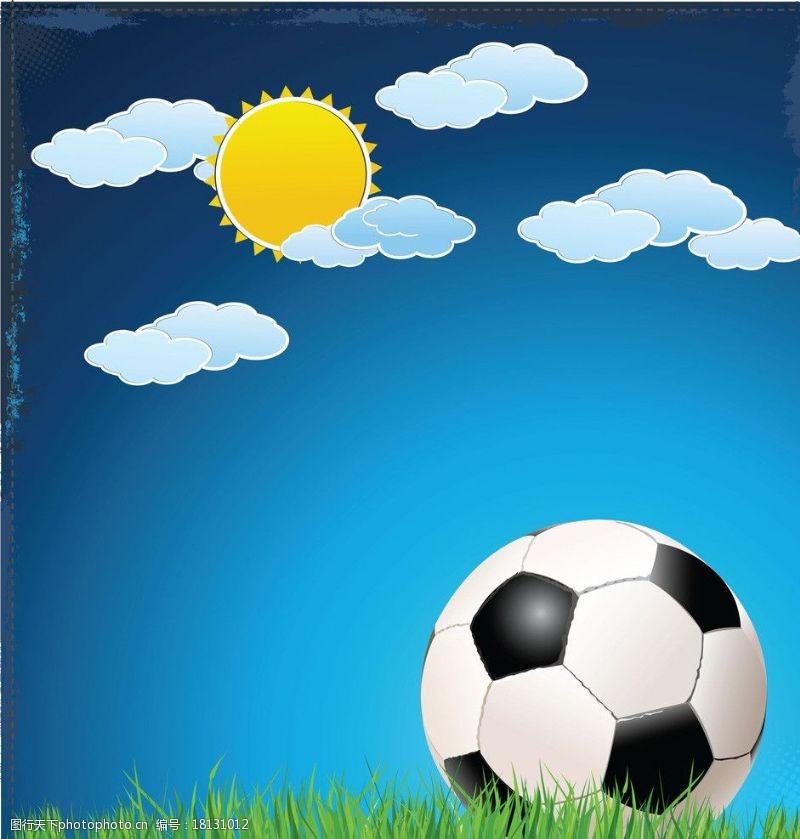 足球主题矢量素材足球图片
