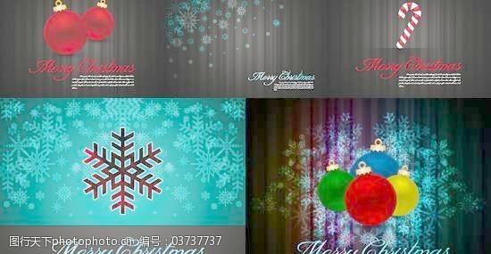 圣诞节饰物优雅背景矢量模板