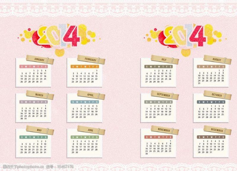 复古邮戳日历月历年历设计图片