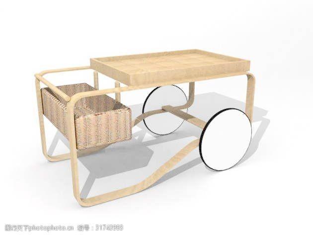 餐车3d模型下载3d模型6