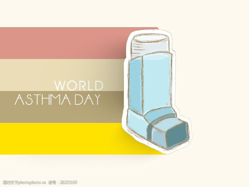 8管管世界哮喘日管线矢量