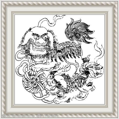 室内装饰用图双狮球