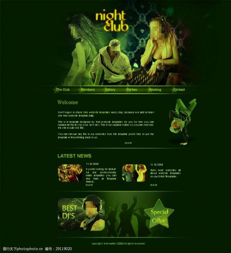 音乐网页PSD国外DJ音乐网站
