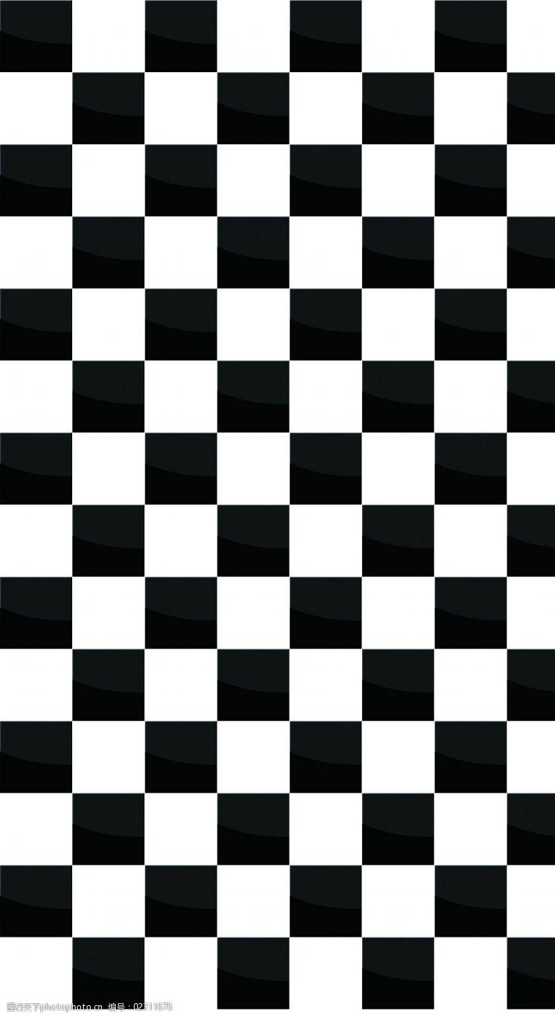 黑白格图片罗马格