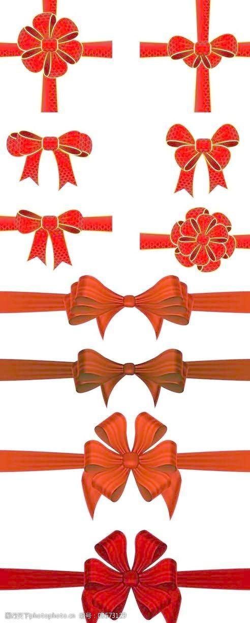 节矢量蝴蝶结花边装饰的蝴蝶结
