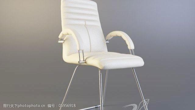 cfaCFAGalaxyChromChair椅子白色真皮沙发椅