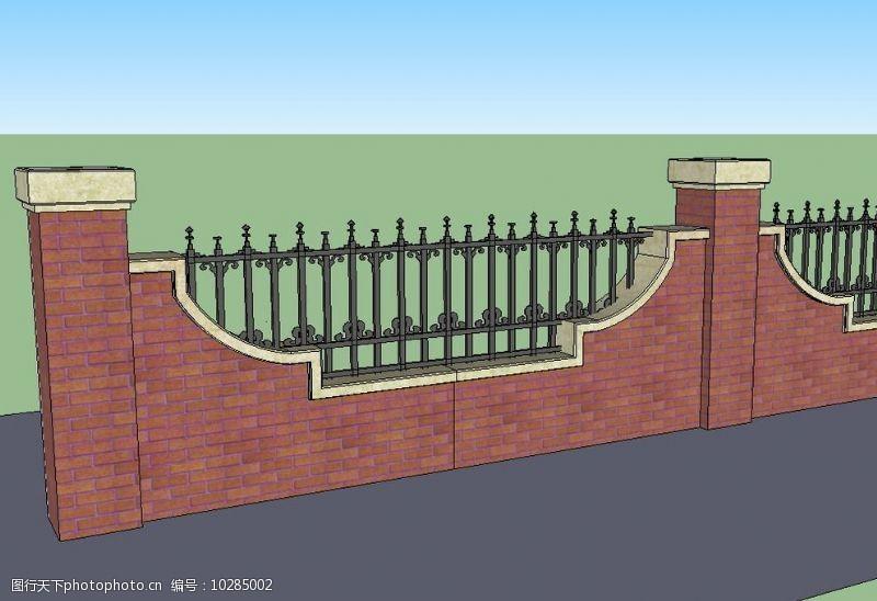 英式铁艺围墙图片