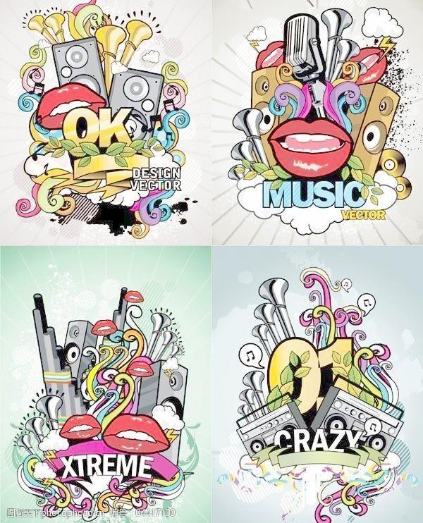 流行音乐海报矢量素材