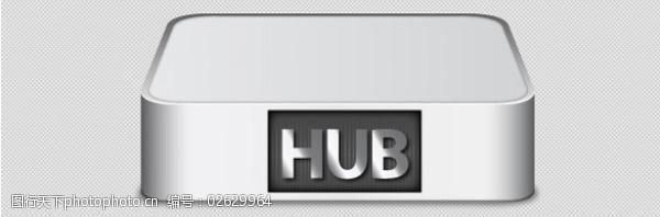 usb集线器广场式金属USB集线器图标矢量