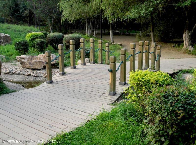 木头桥小木桥图片