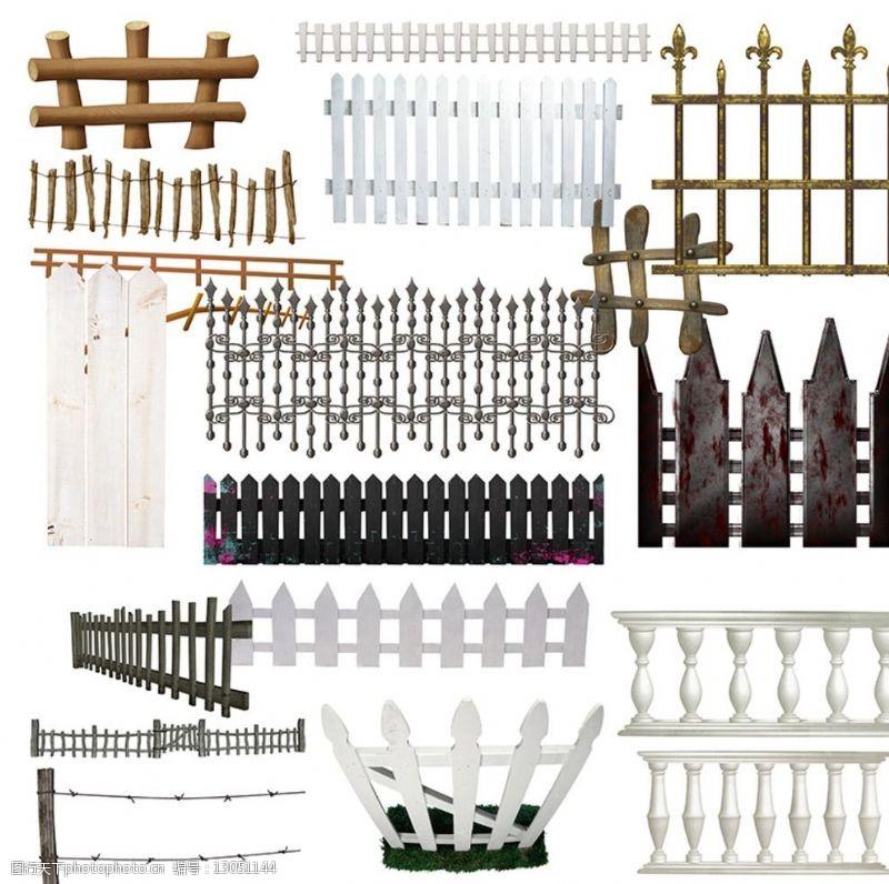 铁艺样式护栏素材图片
