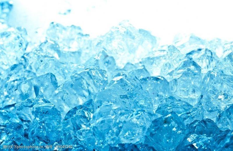 蓝色冰块背景冰块图片