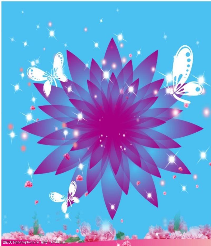 其他原创设计紫色花图片
