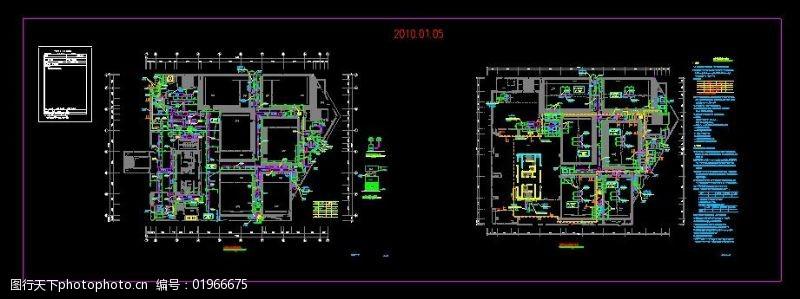 武汉某电影院空调防排烟施工图内容介绍